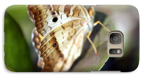 Galaxy Case featuring the photograph White Peacock Butterfly by Greg Allore