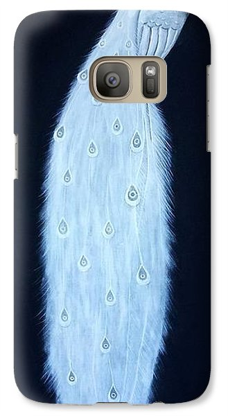 Galaxy Case featuring the painting White Peacock by Edwin Alverio