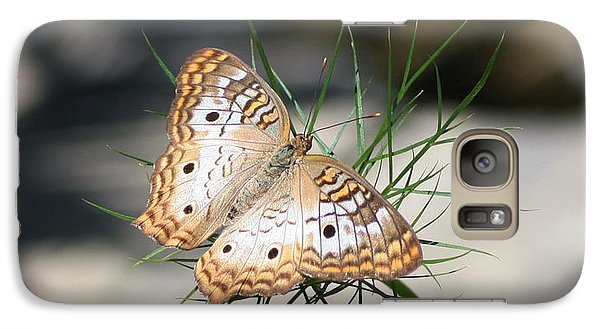 Galaxy Case featuring the photograph White Peacock by Karen Silvestri