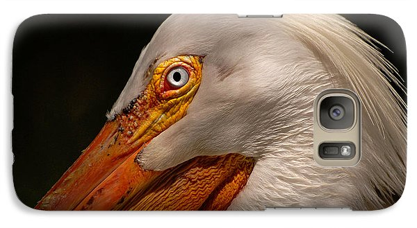 Galaxy Case featuring the photograph White Pelican Portrait by Lorenzo Cassina