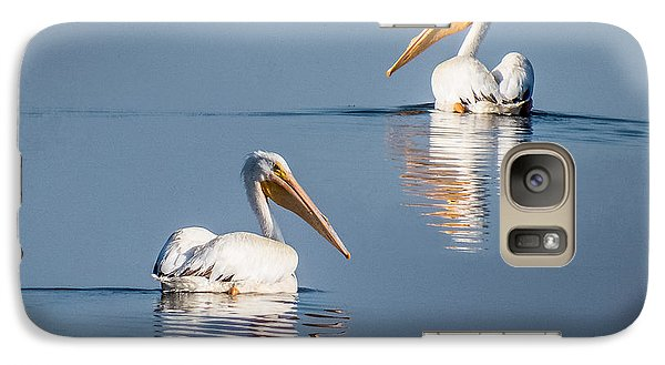 Galaxy Case featuring the photograph White Pelicans by Patti Deters