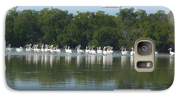 Galaxy Case featuring the photograph White Pelicans by Robert Nickologianis