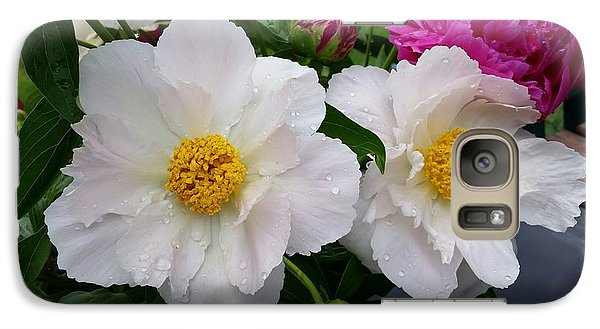 Galaxy Case featuring the photograph White Peony Flower by Rose Wang
