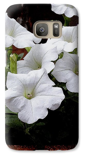 Galaxy Case featuring the photograph White Petunia Blooms by James C Thomas