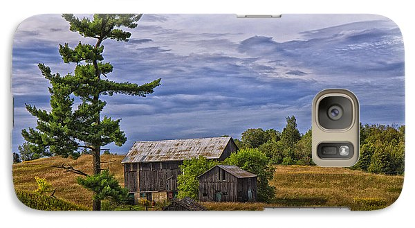 Galaxy Case featuring the photograph White Pine And Old Barn by Gary Hall