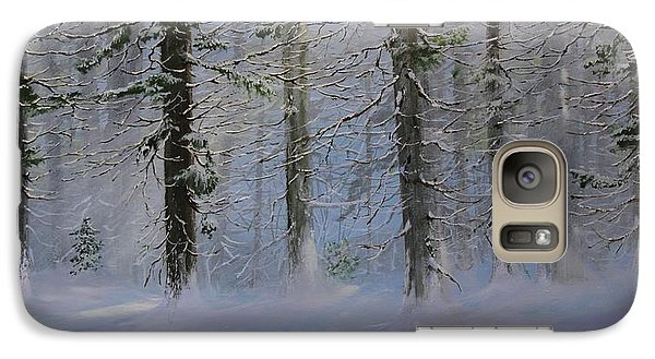 Galaxy Case featuring the painting White Pines by Ken Ahlering