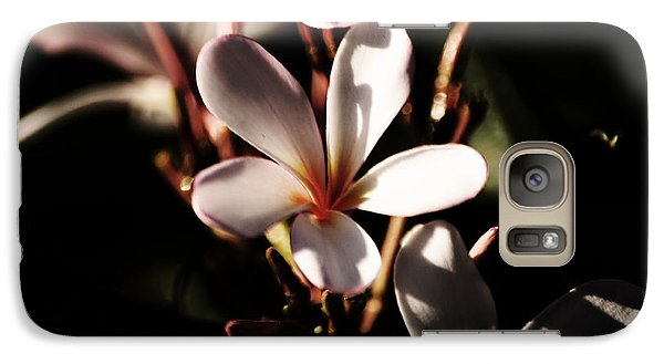 Galaxy Case featuring the photograph White Plumeria by Angela DeFrias