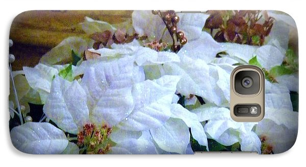 Galaxy Case featuring the photograph White Poinsettia by Michelle Frizzell-Thompson