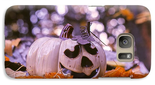 Galaxy Case featuring the photograph White Pumpkin by Aaron Aldrich
