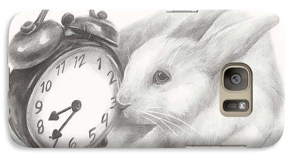 Galaxy Case featuring the drawing White Rabbit Still Life by Meagan  Visser