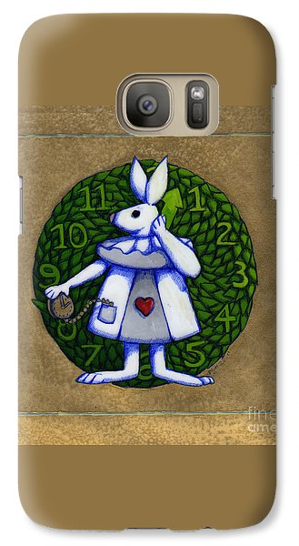 Galaxy Case featuring the mixed media White Rabbit Wonderland by Donna Huntriss