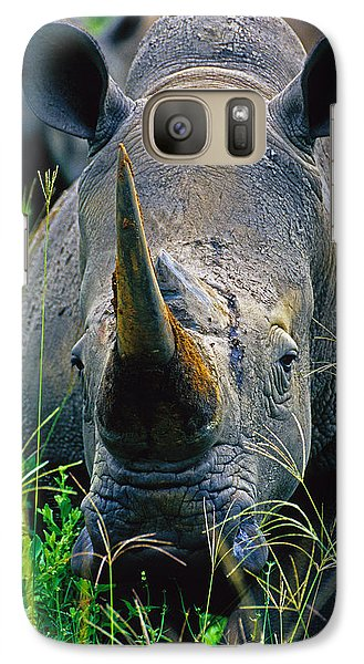 Galaxy Case featuring the photograph White Rhino by Dennis Cox WorldViews