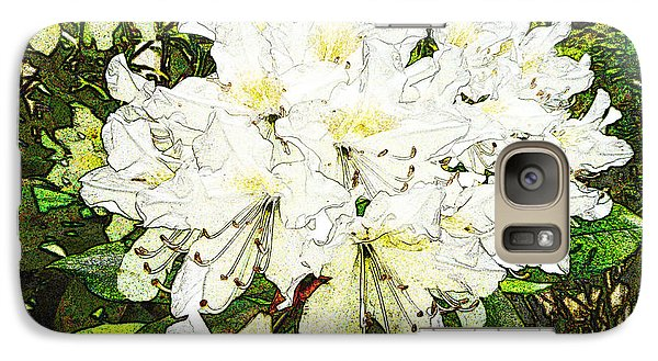 Galaxy Case featuring the photograph White Rhodo Chalk by Laurie Tsemak