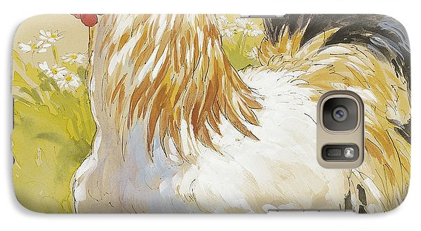 White Rooster Galaxy S7 Case by Tracie Thompson