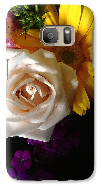 Galaxy Case featuring the photograph White Rose by Meghan at FireBonnet Art