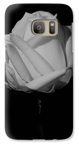 Galaxy Case featuring the photograph White Rose by Michelle Joseph-Long