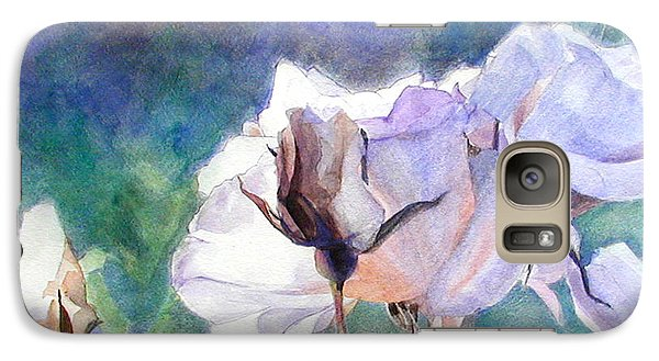 Galaxy Case featuring the painting White Roses In The Shade by Greta Corens