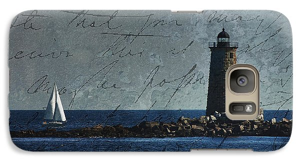 Galaxy Case featuring the photograph White Sails On Blue  by Jeff Folger