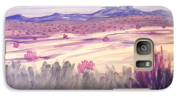 Galaxy Case featuring the painting White Sand Purple Hills by Suzanne McKay