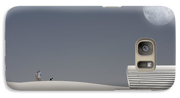 Galaxy Case featuring the digital art White Sands Moonrise by Bruce Rolff