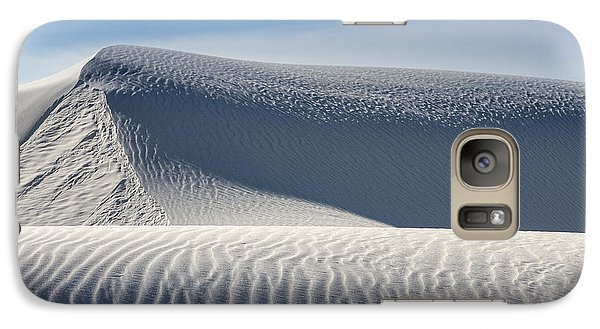 Galaxy Case featuring the photograph White Sands Ridges by Kristal Kraft