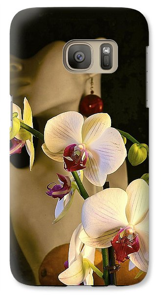 Galaxy Case featuring the photograph White Shoulders by Elf Evans