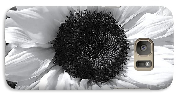 Galaxy Case featuring the photograph White Sunflower by Jeannie Rhode