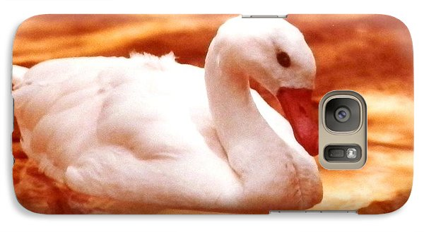 Galaxy Case featuring the photograph White Water Swan Beauty by Belinda Lee