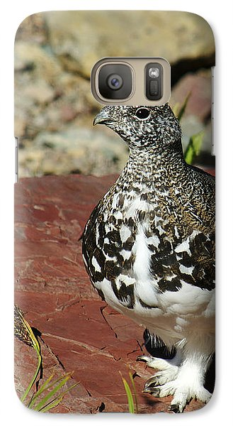 Galaxy Case featuring the photograph White-tailed Ptarmigan by Sue Smith