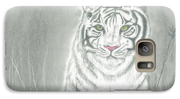 Galaxy Case featuring the pastel White Tiger by David Jackson