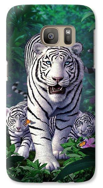 Tiger Galaxy S7 Case - White Tigers by Jerry LoFaro