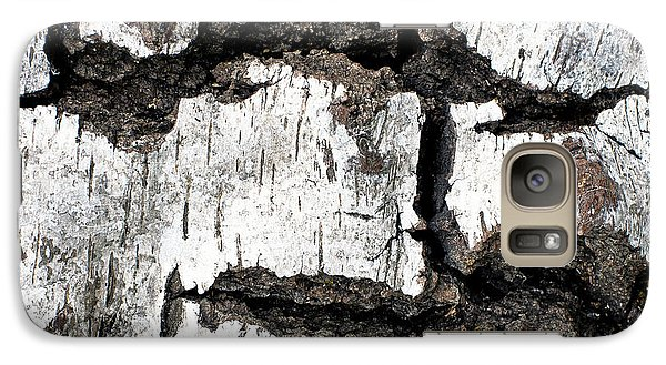 Galaxy Case featuring the photograph White Tree Bark by Crystal Hoeveler