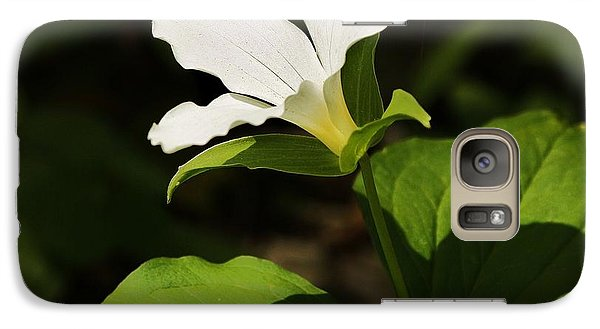 Galaxy Case featuring the photograph White Trillium by Al Fritz
