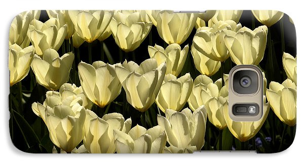 Galaxy Case featuring the photograph White Tulips by Inge Riis McDonald
