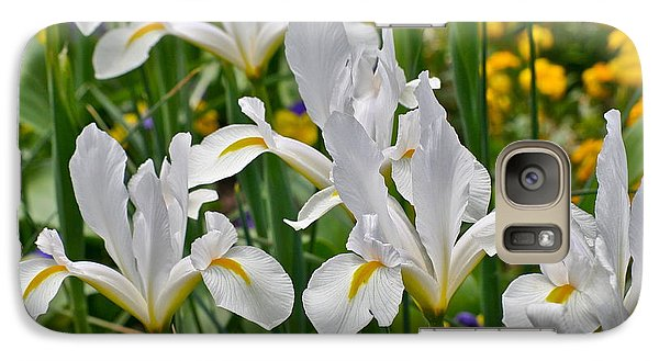 Galaxy Case featuring the photograph White Van Vliet Iris by Eve Spring