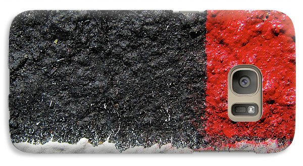 Galaxy Case featuring the photograph White Versus Black Over Red by CML Brown