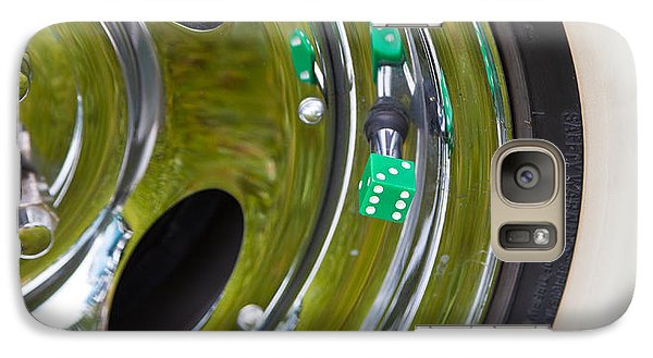 Galaxy Case featuring the photograph White Wall Tyre Chrome Rim And Dice by Mick Flynn