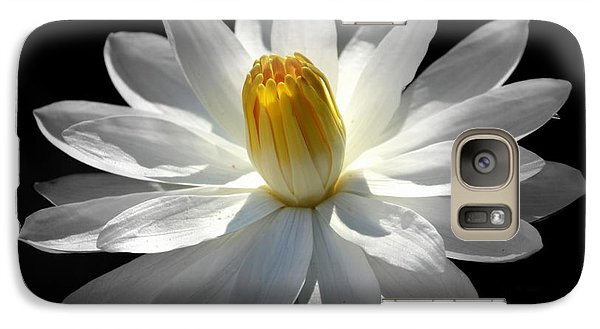 Galaxy Case featuring the photograph White Water Lily #2 by Lisa L Silva