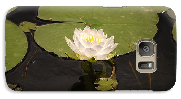 Galaxy Case featuring the photograph White Water Lily by Mark McReynolds