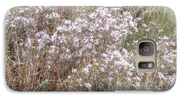 Galaxy Case featuring the photograph White Wild Flowers by Fortunate Findings Shirley Dickerson