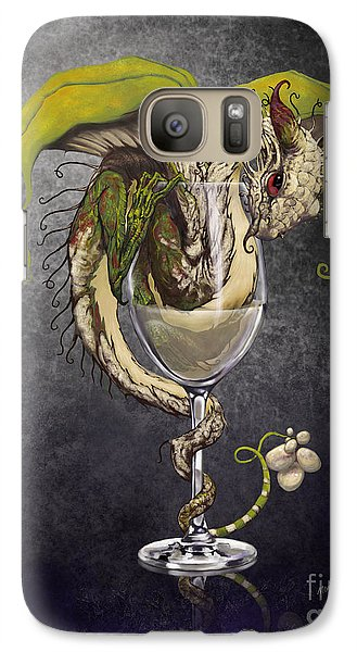 Wine Galaxy S7 Case - White Wine Dragon by Stanley Morrison