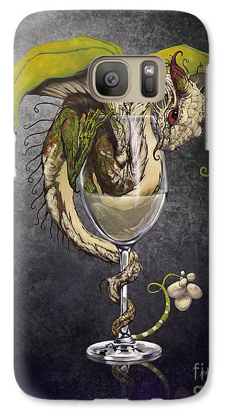 White Wine Dragon Galaxy S7 Case by Stanley Morrison