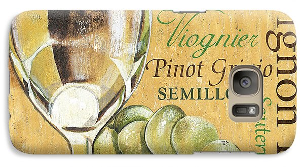 Cocktails Galaxy S7 Case - White Wine Text by Debbie DeWitt