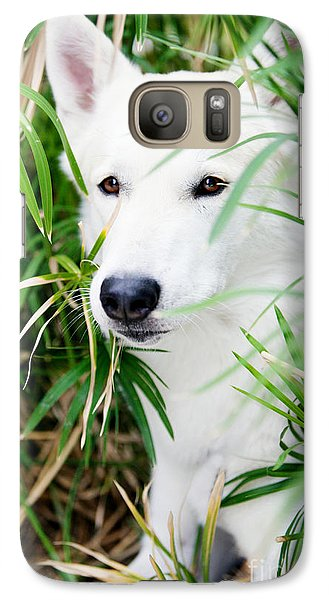 Galaxy Case featuring the photograph White Wolf by Erika Weber