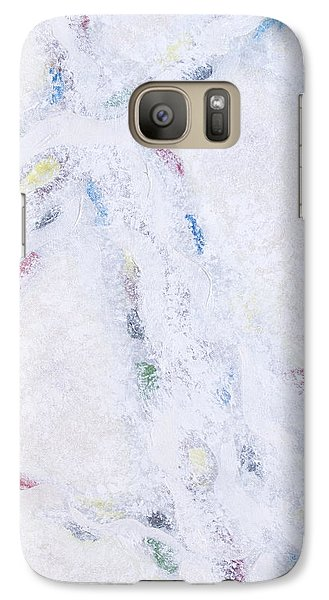 Galaxy Case featuring the painting Whiteout by Cindy Lee Longhini
