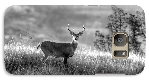 Galaxy Case featuring the photograph Whitetail Buck B/w by Kevin Bone