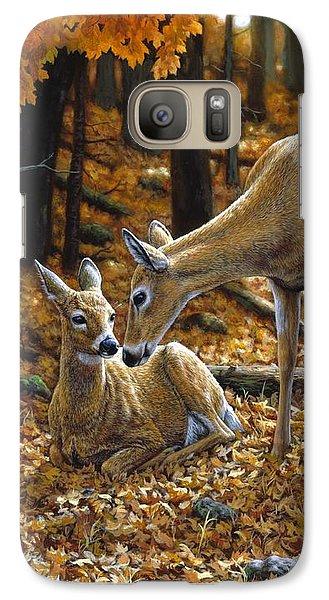Whitetail Deer - Autumn Innocence 2 Galaxy S7 Case