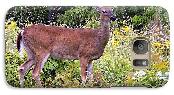 Galaxy Case featuring the photograph Whitetail Deer by William Tanneberger