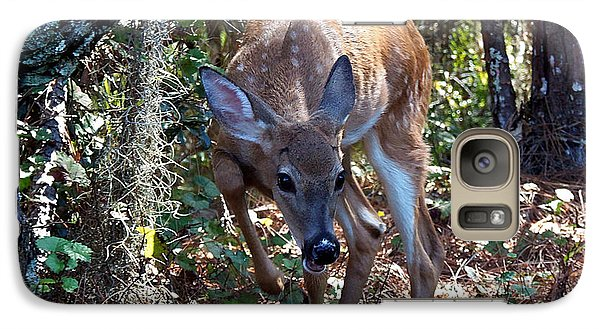 Galaxy Case featuring the photograph Whitetail Fawn 008 by Chris Mercer