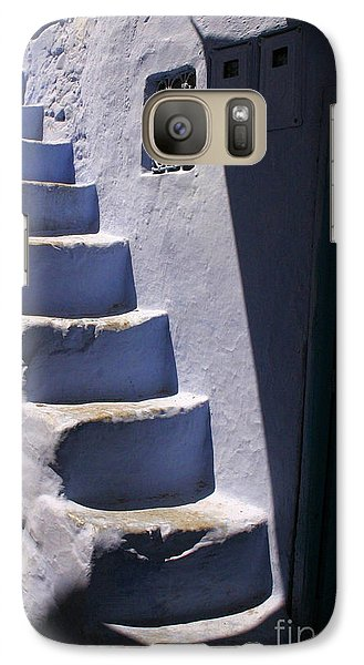 Galaxy Case featuring the photograph Whitewashed Steps In The Medina Of Asilah On Northwest Tip Of Atlantic Coast Of Morocco by Ralph A  Ledergerber-Photography